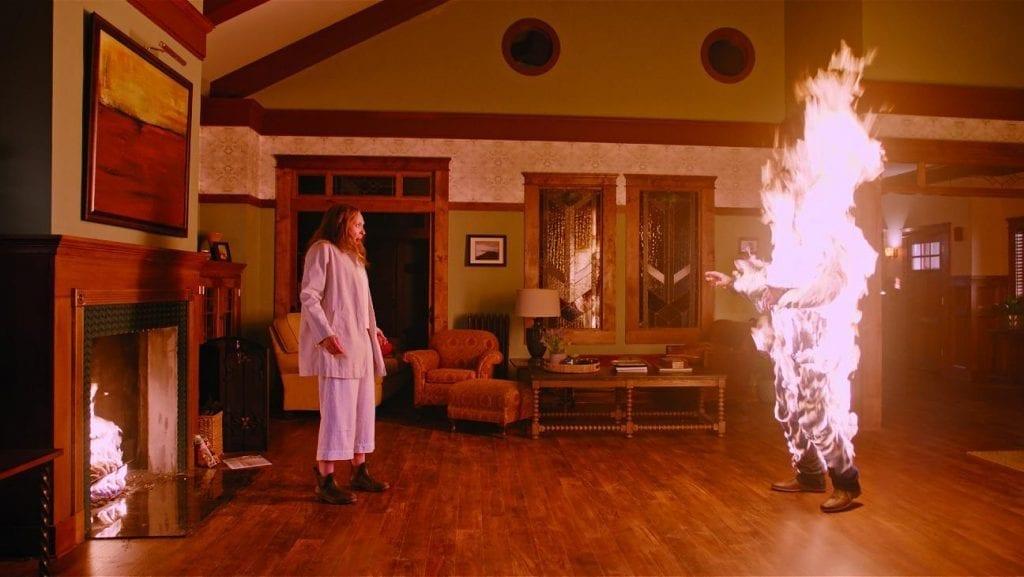 Annie's husband on fire (Top five Most Disturbing Movies)