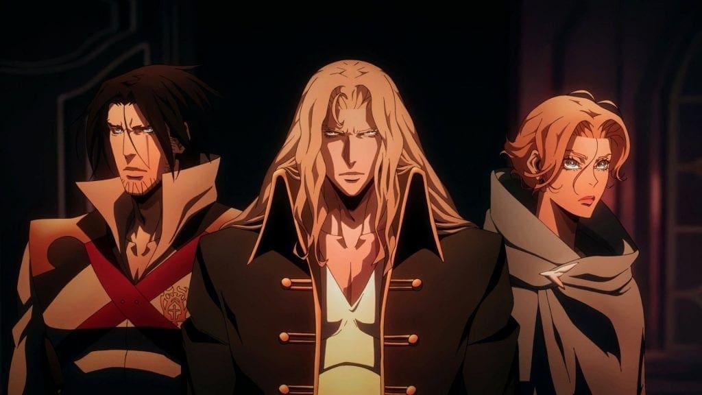 Trevor, Sypha, and Alucard. (Castlevania Season 2)