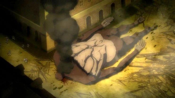 The Beast Titan Falls Again (Attack on Titan Season 4)